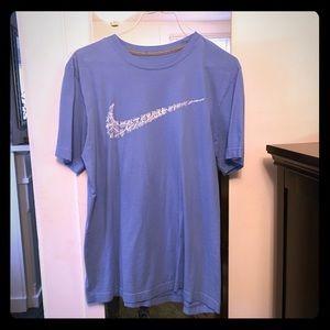 White & Blue Nike T-Shirt